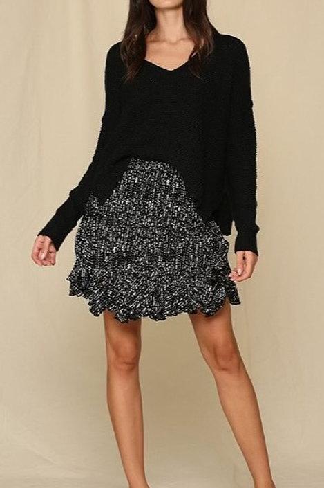 Black & White Flirty Skirt