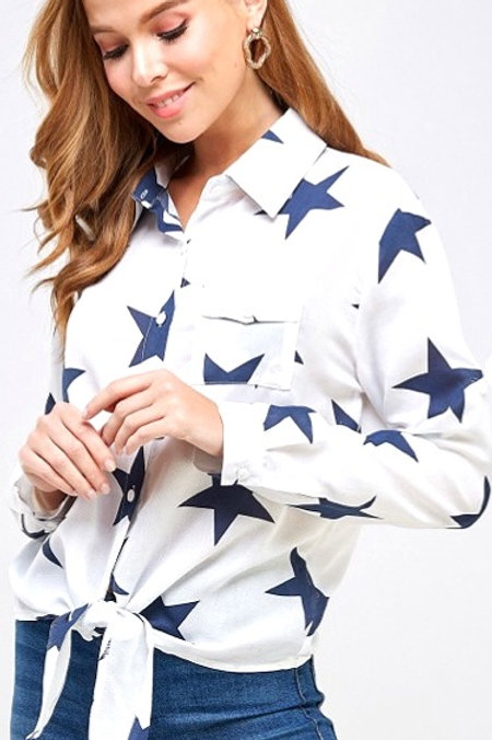 Star Spangled Button Down