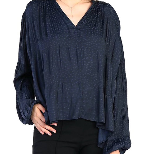 Go with the Flow Navy Blouse