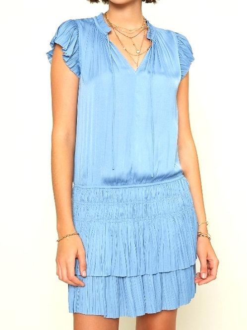 Flirty Ruffled Dress, Blue