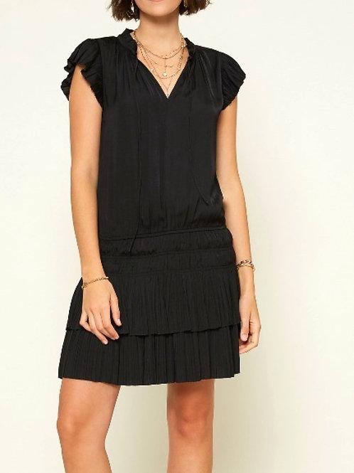 Flirty Ruffled Dress, Black