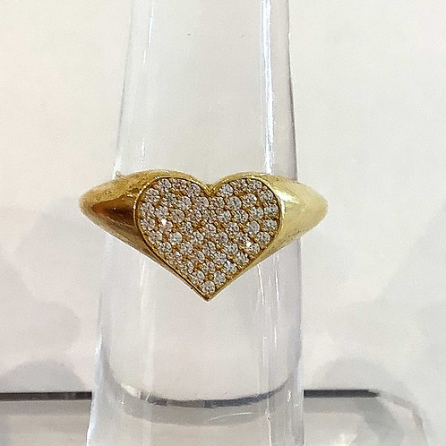Silver & Gold Heartfelt Ring