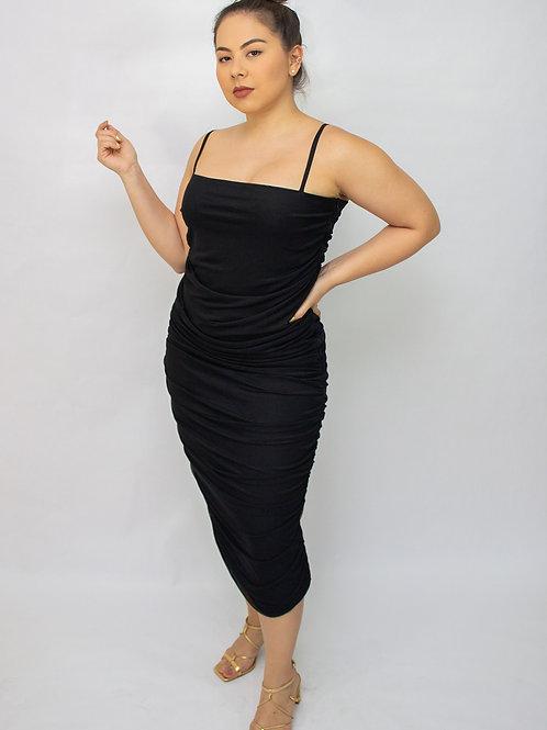 Vestido Amicci com Tule Preto