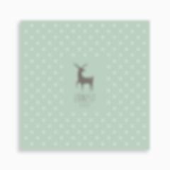 faire-part de naissance jeune cerf sur motif triangle pour garçon de couleur vert