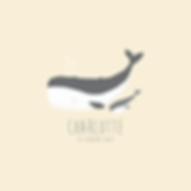 faire-part naissance petite baleine jaun