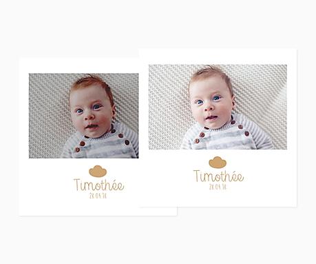 retouche de l'exposition, la luminosité et le contraste de votre photo pour votre faire-part de naissance