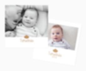 passage de la photo de bébé en noir et blanc
