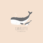faire-part naissance petite baleine rose