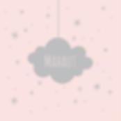 faire-part de naissance nuage gris