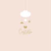faire-part de naissance mobile nuage avec son petit oiseau rose