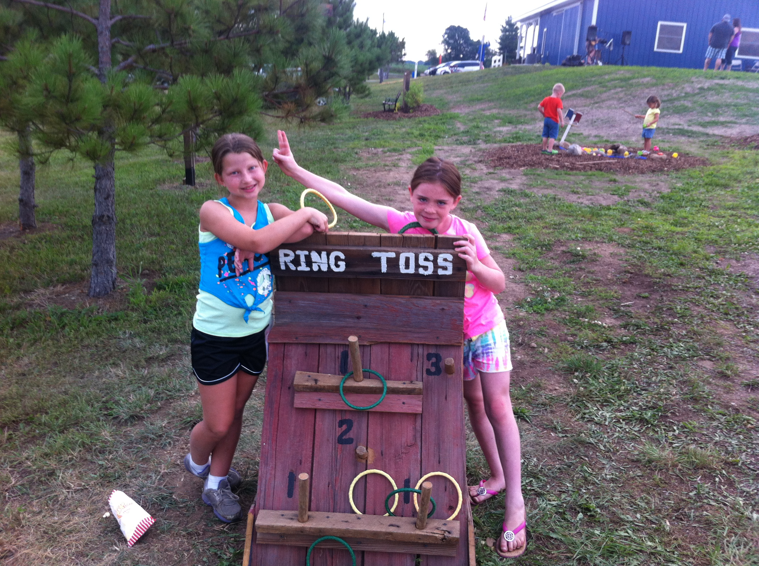 Ring Toss can get competitive...