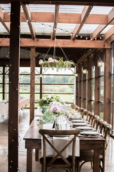 Rented farm tables for headtable