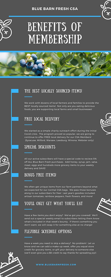 Benefits of Membership FRESH Infographic