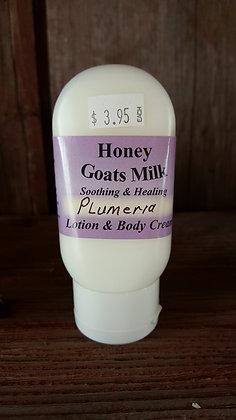 Honey Goats Milk Lotion & Cream - Plumeria