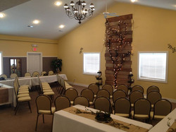 Ceremony Setup with border tables