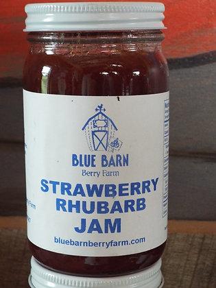 Strawberry Rhubarb Jam - 9 oz Jar