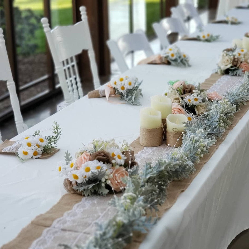 Headtable with bride/groom chairs