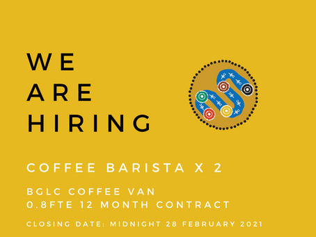 Coffee Barista's Wanted