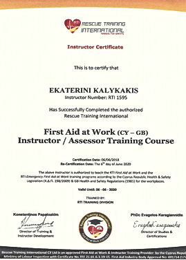 QUALIFIED FIRST AID INSTRUCTOR