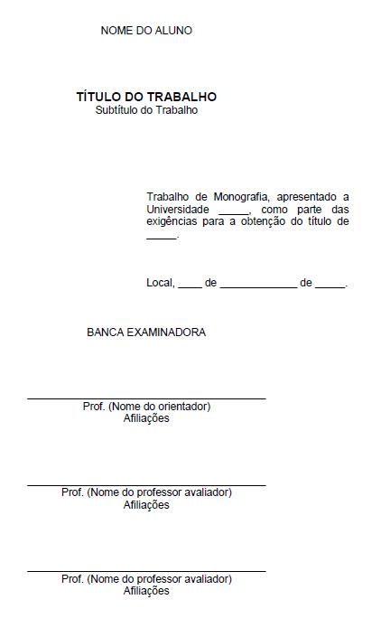 FOLHA DE APROVAÇÃOPADRÃO ABNT - MONOGRAFIA / TCC / PROJETO / ARTIGO