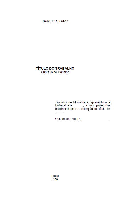 CONTRA CAPA PADRÃO ABNT - MONOGRAFIA / TCC / PROJETO / ARTIGO