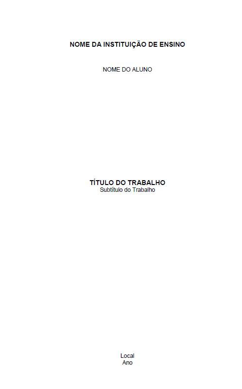 Modelo Capas Abnt Monografia Tcc Projeto Artigo
