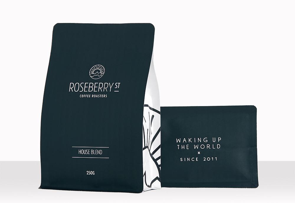 Roseberry St Roasters new Packaging