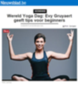 21 juni yoga dag Evy Gruyaert