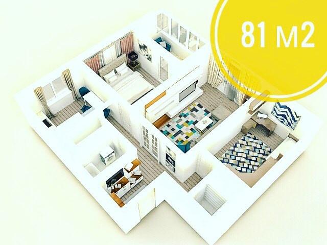купить трехкомнатную квартиру копище