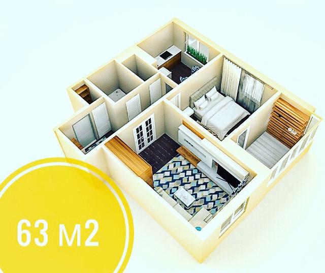 купить двухкомнатную квартиру копище