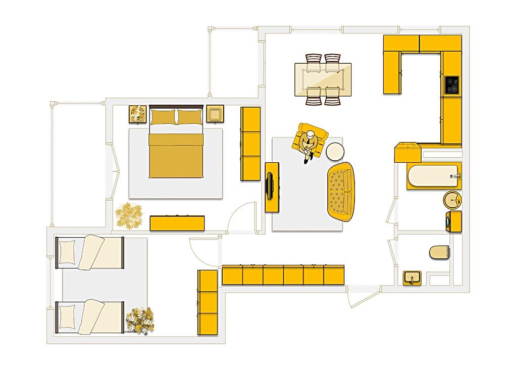 СИ-трейдинг, трехкомнатная квартира