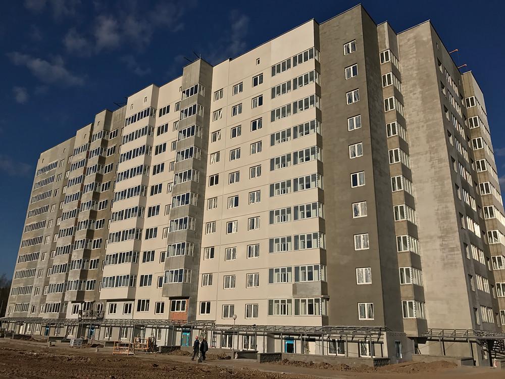 СИ-трейдинг, ход строительства дома 23А д.Копище