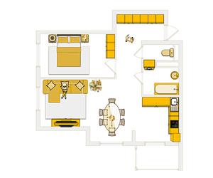 СИ-трейдинг, двухкомнатная квартира