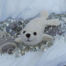 Needle Felted Baby Seal