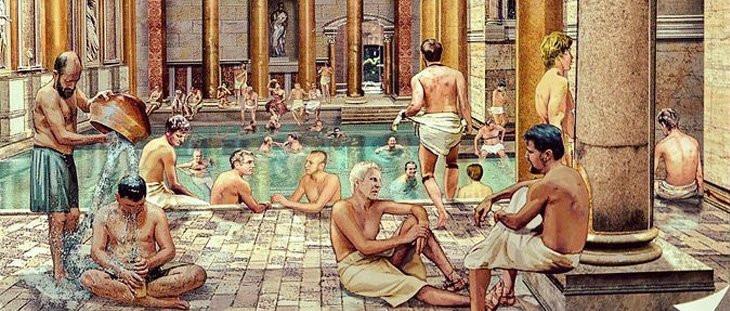 banho publico em roma
