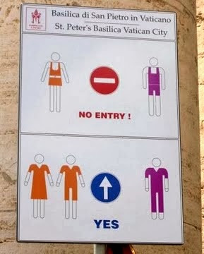 placa no Vaticano