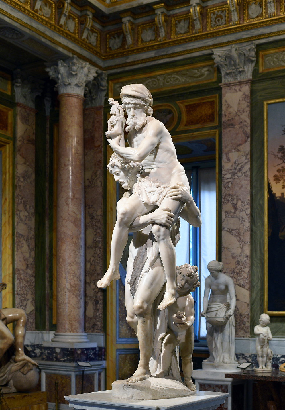 escultura de lorenzo bernini na galleria borghese