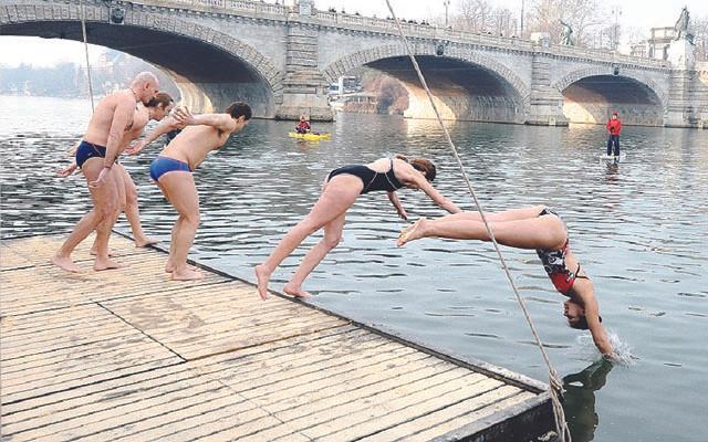Mergulho no Rio Tibre