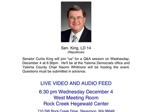 Q & A with State Senator Curtis King