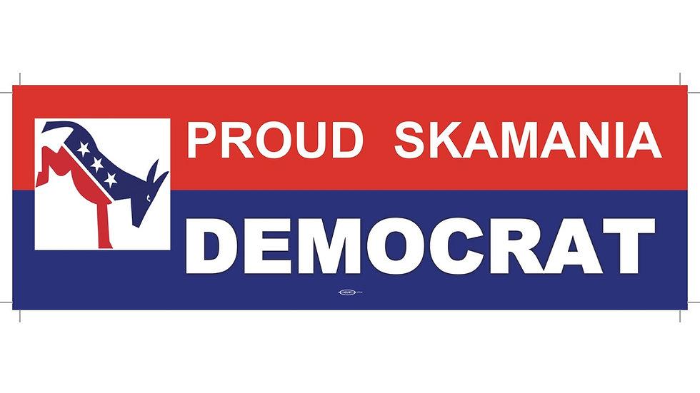 Proud Skamania Democrat Bumper Sticker