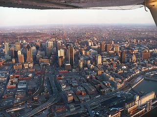 Centre ville Montréal vu du ciel