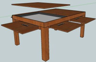 6 Drawer Gaming Table (10 for dining)