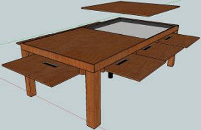 8 Drawer Gaming Table (12 for dining)