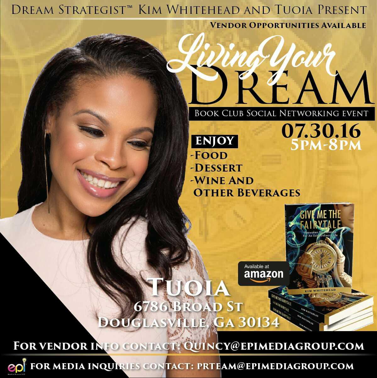 Living Your Dream Book Club Social - Touia