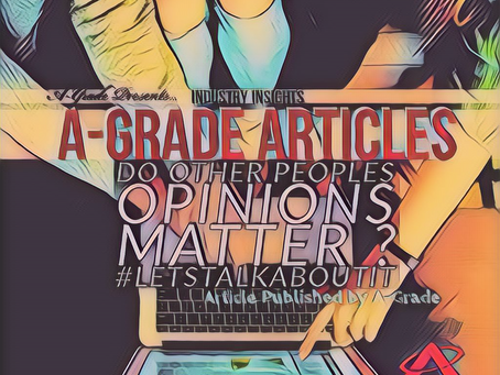 Article : Do other peoples Opinions matter ? #Letstalkaboutit