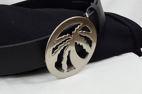 Big Palm Tree buckle mens belt