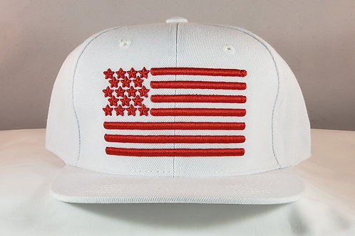 TH+ Red & White snapback