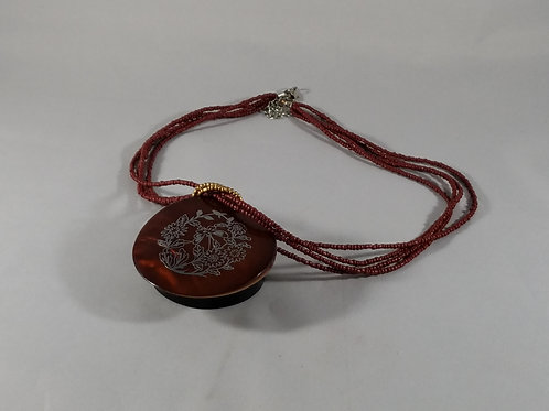 """Nomads"" Wooden Necklace"
