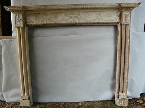 Large Regency Wooden Fireplace