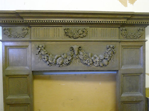 Edwardian Oak Fireplace